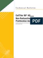 CellTiter 96 AQueous Non-Radioactive Cell Proliferation Systems Protocol