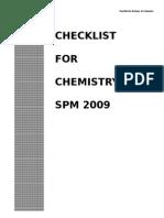 15055154 Spm Checklist for Chemistry