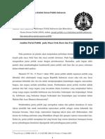 Analisis Partai Politik Pada Masa Orde Baru Dan Pasca Reformasi