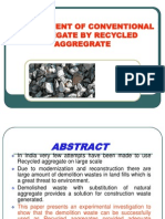 Replacement of Conventional Aggregate by Recyled Aggregate