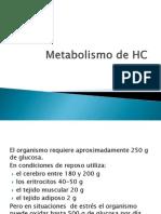 Metabolismo de Hc en pacientes en estado critico