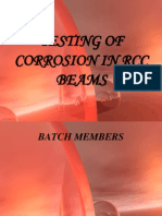 Testing of Corrosion in Rcc Beams by Using Half Cell Potential Meter