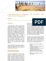 2009 05 Community-Driven Mapping for Resource and Environment Management - Synexe Knowledge Note
