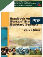 Handbook of Statutory Monetary Benefits (DOLE 2012 Edition)