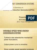Doubly fed Induction Generators in wind energy