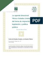 La Agenda Binacional México-Estados Unidos del Tema de Migración