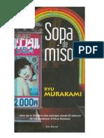 Sopa de Miso Ryu Murakami