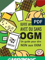 Guide Des Produits Avec Ou Sans OGM