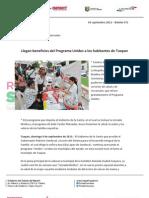 09-09-12 Boletin 571 Llegan Beneficios Programa Unidos a Los Habitantes de Tuxpan