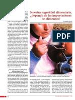 Nuestra seguridad alimentaria, ¿depende de las importaciones de alimentos?