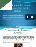 Departamento de recursos humanos y sistema de gestión