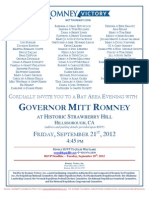 Evening with Mitt Romney for Romney Victory Inc.