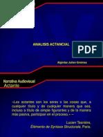 Analisis actancial Greimas