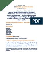 Convocatoria Elecciones  ANFUCULTURA 2012