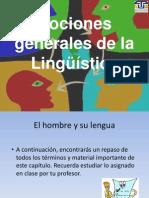 Nociones generales de la Lingüística SPAN 0110