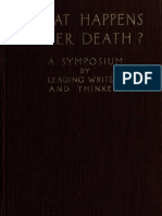 What Happen After Death Symposium Leading Writers