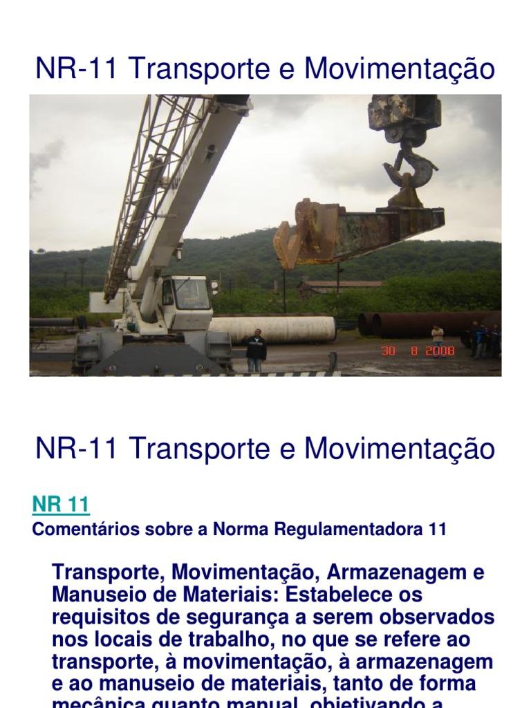 LEGISLAÇÃO NR-11 E NR-12 6ebec0c711