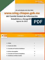 Reporte de estadísticas del sitio del CEIEG Agosto 2012