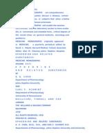 Medicine Monographs