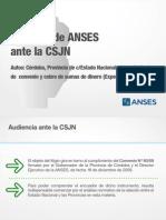 Posición de ANSES ante la CSJN