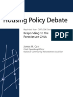 Responding to the Foreclosure Crisis_Housing Policy Debate