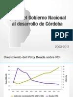 Apoyo del Gobierno Nacional al desarrollo de Córdoba