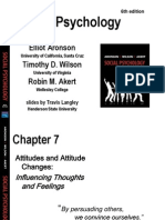 Chapter 7 - Attitudes & Behaviour