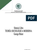 Síntesis del libro Teoría Sociológica Moderna de George Ritzer