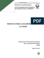 Manual para la elaboración de la Tesis