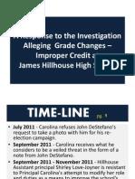 Hillhouse Response to Grade Tampering - Slide Show