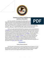 Summary of Annual FOIA Reports for FY 2011