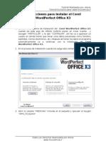 Instrucciones Para Instalar El Corel WordPerfect Office X3