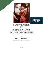 Devi, Savitri - Souvenirs Et Reflexions d'Une Aryenne (FR, 1976, 344 S., Text)
