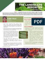September 2012_Landscape Reporter With Supplement