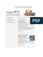 Categorynet.com 13 janvier 2009