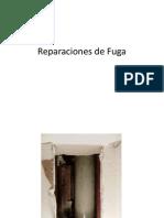 Reparaciones de Fuga