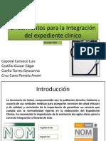 Lineamientos para la Integración del expediente clínico