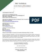 National Press Release for Sept 12, 2012 for NCOE