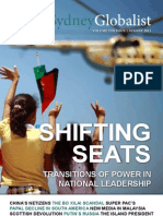 "The Sydney Globalist Vol VIII Issue I - ""Shifting Seats"