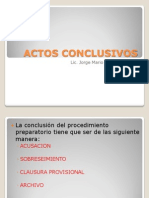 Actos Conclusivos