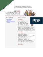 Categorynet.com 15 janvier 2009