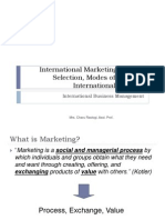 6. International Marketing, Market Selection, Modes of Entry in International Markets