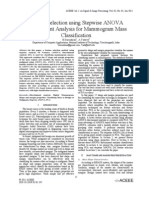 Feature Selection using Stepwise ANOVA Discriminant Analysis for Mammogram Mass Classification