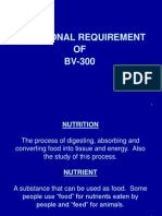 Nutrition Requierment of Layer Birds( BV300)