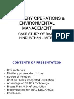 DISTILLERY OPERATIONS & ENVIRONMENTAL MANAGEMENT   Biogas