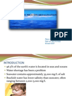 MEMBRANE PROCESS DESALINATION