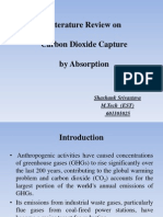 Literature Review on Carbon Dioxide Capture by Absorption