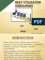 WASTE HEAT UTILIZATION TECHNOLOGIES