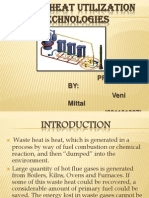 WASTE HEAT UTILIZATION TECHNOLOGIES