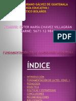 FUNDAMENTACIÓN DE LA TEC. EDUC I